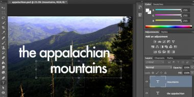 طراحی، ویرایش و نوشتن متن در فتوشاپ