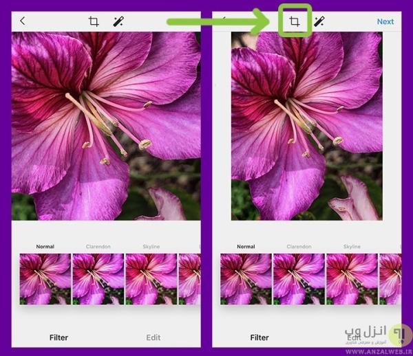 تنظیم اندازه عکس در اینستاگرام با ابعاد اصلی