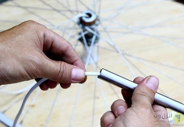 آموزش ساخت لوستر با رینگ دوچرخه