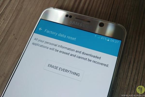 رفع مشکل Optimizing App با ریست فکتوری کردن گوشی