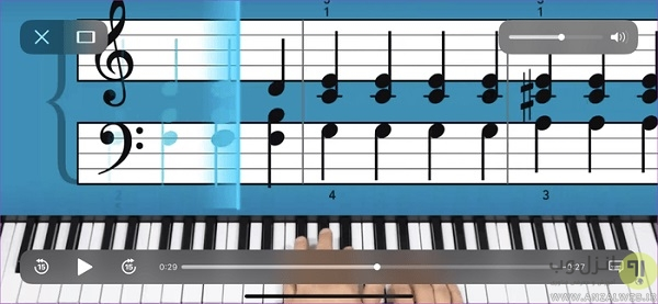 برنامه آموزش نت خوانی پیانو