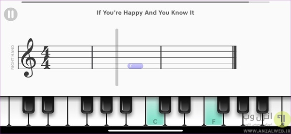 برنامه ی پیانو برای اندروید
