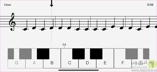 برنامه آموزش پیانو برای اندروید