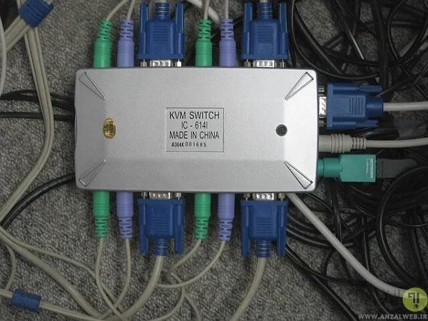 نحوه اتصال دو سیستم به یک مانیتور