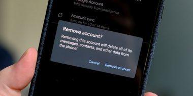 خروج و حذف اکانت جیمیل از گوشی اندروید