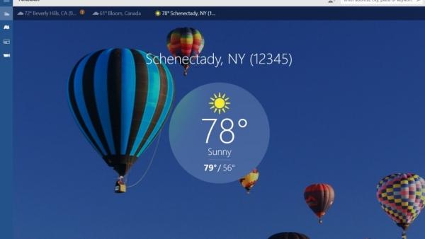 برنامه The Weather Channelبرای مشاهده آب و هوا برای کامپیوتر