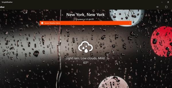 Simple Weather، گجت آب و هوا برای ویندوز 7 ، 8 و 10