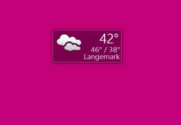 ویجت آب و هوا برای ویندوز 7 Chameleon Weather