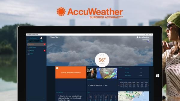 دانلود برنامه آب و هوا در ویندوز 10، AccuWeather