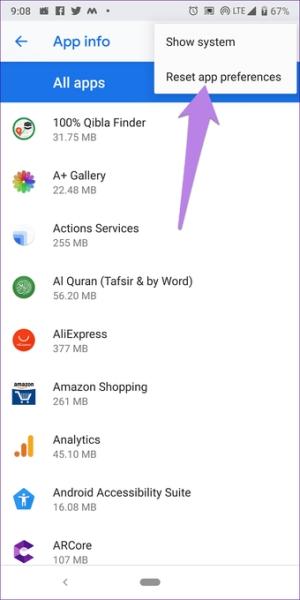 ریست کردن App Preferences