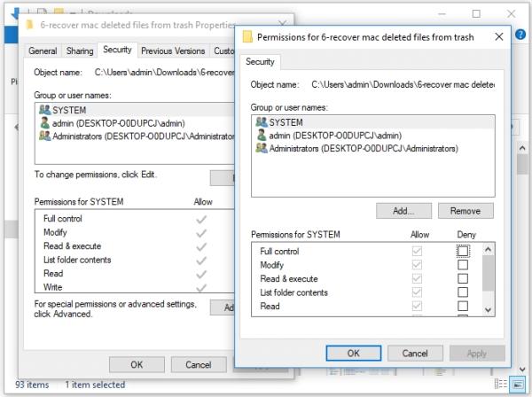 تغییر مجوز ها برای مشکل کپی نشدن فایل از گوشی به کامپیوتر