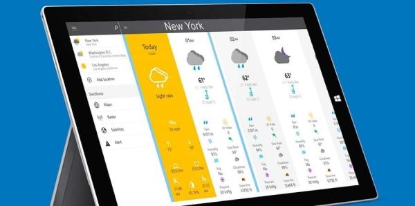 برنامه The Weather 14 days، نرم افزار جدید هواشناسی کامپیوتر