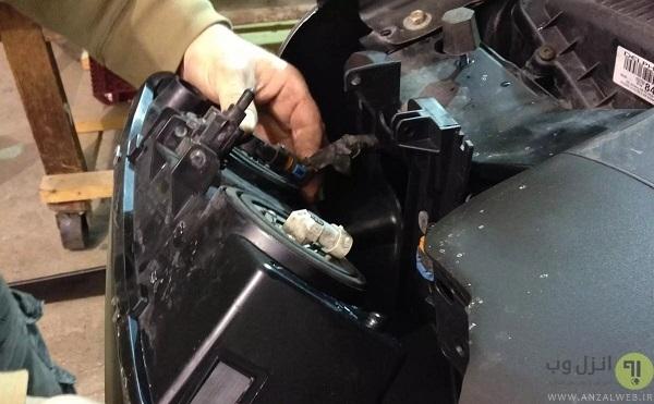 تعمیر چراغ شکسته خودرو