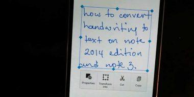 تبدیل دست خط به متن تایپ شده در اندروید