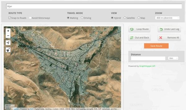 استفاده از سرویس آنلاین برای کشیدن مسیر در گوگل مپ
