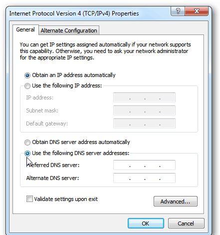 آموزش تغییر DNS کامپیوتر ویندوز 7