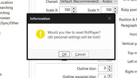 آموزش تصویری بازگشت به تنظیمات اولیه KMPlayer و PotPlayer