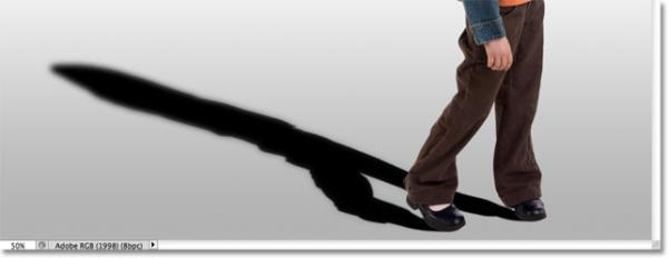 آموزش ایجاد سایه انسان در فتوشاپ