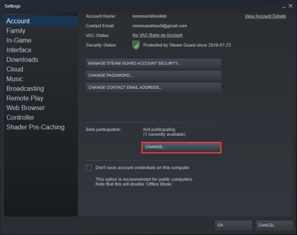 ارورUnable to Initialize Steam API در PES و.. با عدم استفاده از نسخه Beta