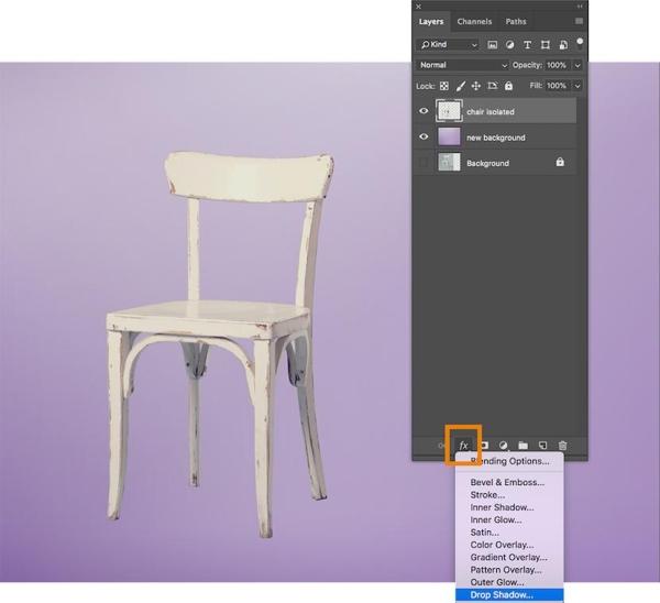 روش ایجاد سایه در عکس با فتوشاپ