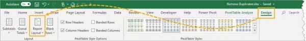 حذف سطرهای تکراری اکسل با استفاده از Pivot Table