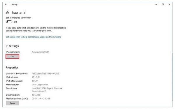 حل مشکل DNS در تنظیمات ویندوز ۱۰