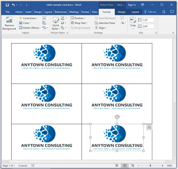 تصویر: https://anzalweb.ir/wp-content/uploads/2020/02/Word-Table-Business-Card-6.jpg