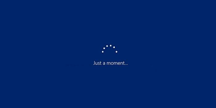 آموزش 4 روش حل مشکل طولانی شدن نصب ویندوز 10 و پیام Just a Moment