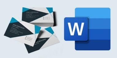 ساخت و طراحی کارت ویزیت در ورد