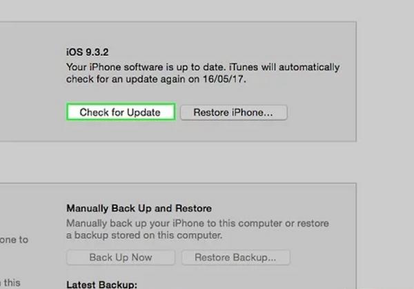 آپدیت iOS آیفون بدون نیاز به وای فای