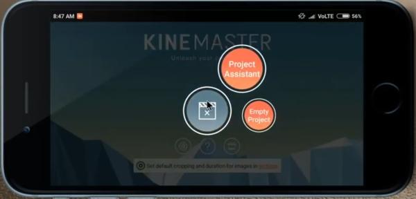 روش تغییر پشت زمینه فیلم اندروید با برنامه KineMaster (برنامه تغییر پس زمینه فیلم اندروید)
