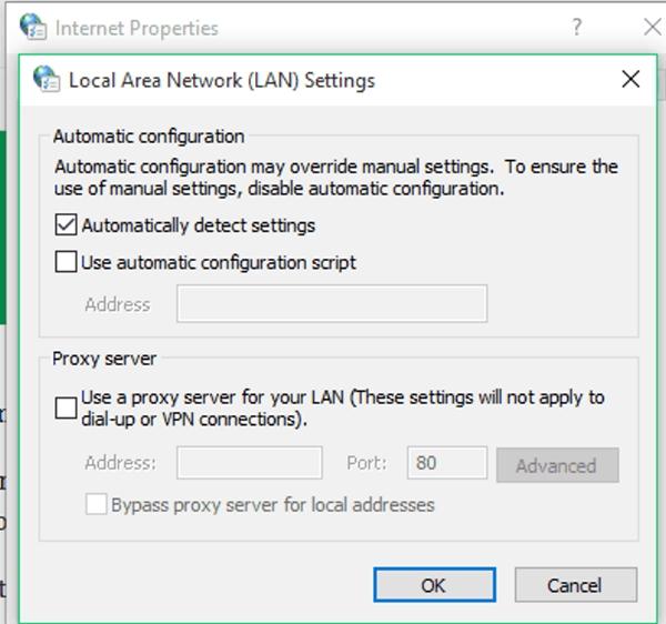 فعال کردن اپ استور ویندوز 10 با غیر فعال کردن Proxy