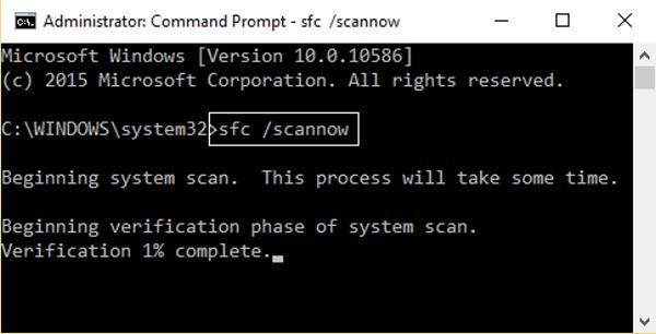 اجرای SFC Scan برای رفع مشکل Failed To Start Application