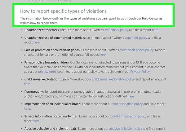 ریپورت توییتر چیست