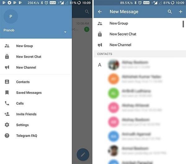 Telegram Messengerبرنامه جایگزین واتس اپ