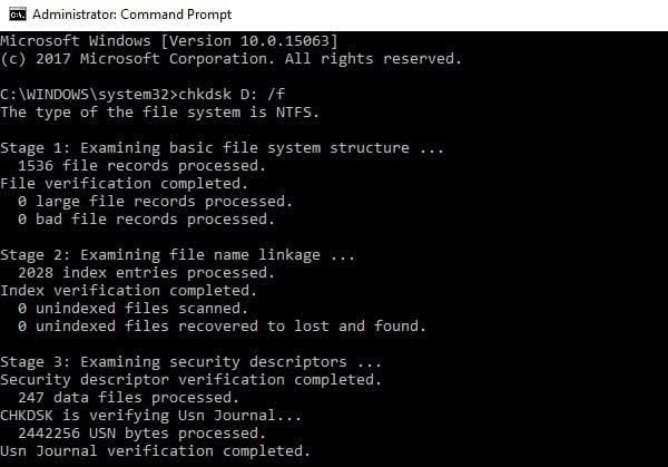 رفع ارور low memory از طریق چک کردن دیسک ها برای ارور