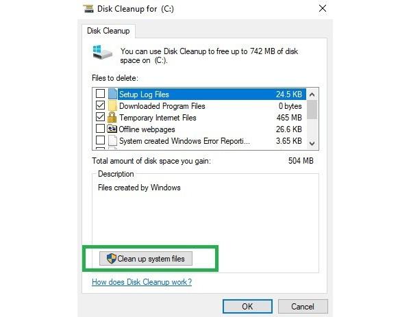 رفع خطای Your computer is low on memory از طریق تمیز کردن پرونده ها و پوشه های موقت