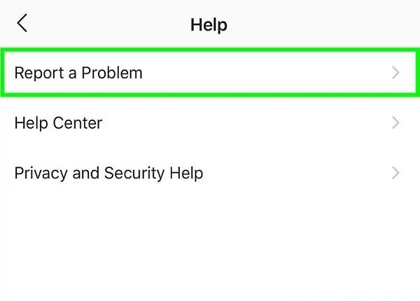راه ارتباط با پشتیبانی اینستاگرام از طریق برنامه
