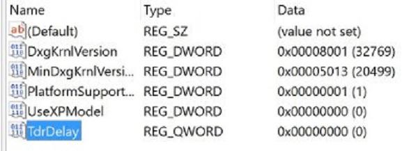 رفع ارور Display driver has stopped با تنظیم زمان بندی ویندوز