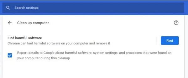 رفع علت کند باز شدن گوگل کروم از طریق اسکن بد افزار داخلی کروم