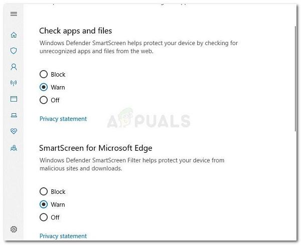 حل مشکل اسمارت اسکرین در ویندوز 10 با چک فعال بودن SmartScreen