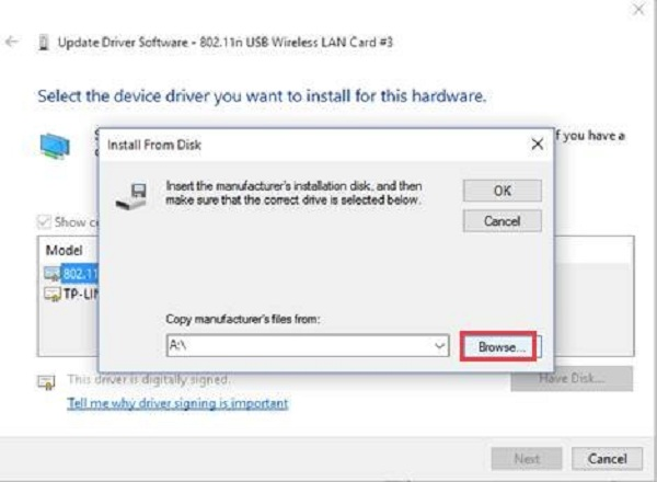 آموزش نصب کارت شبکه در ویندوز 10