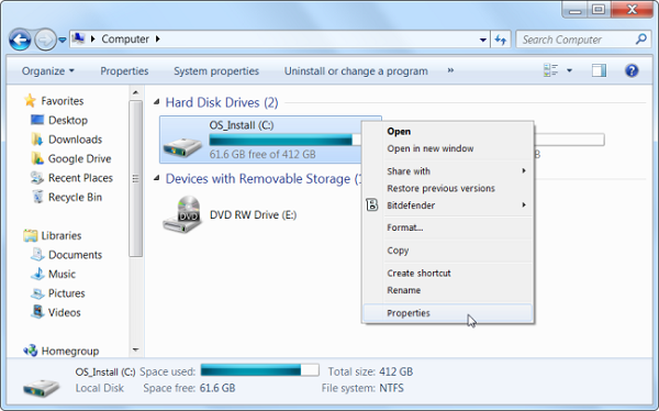 رفع مشکل low disk space با استفاده از Disk Cleanup