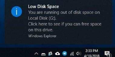 9 روش ارور Low Disk Space و کمبود فضا ویندوز 10 ، 8 و 7