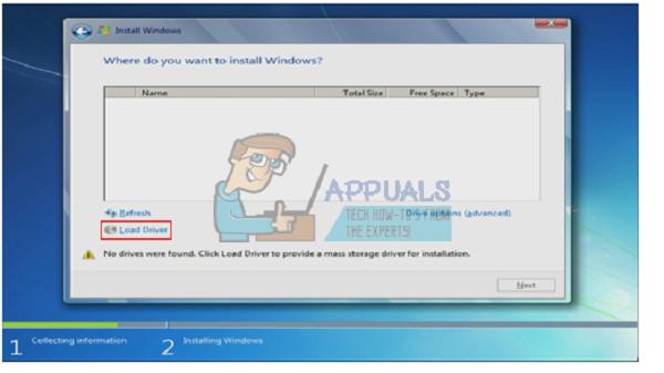 حل مشکل نشناختن درایو در نصب ویندوز 7 با وارد کردن درایور های هارد روی USB