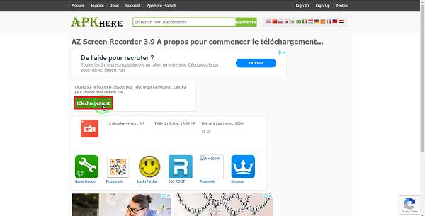 ذخیره گپ ویدیویی اینستاگرام از طریق برنامه AZ Screen Recorder
