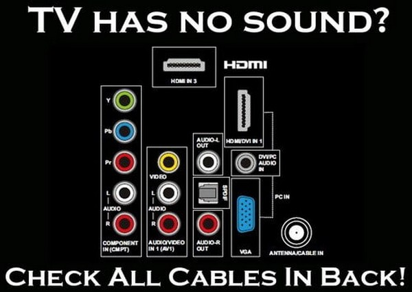 قطع شدن صدای تلویزیون