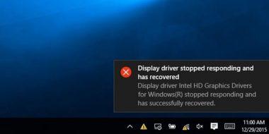رفع ارور Display Driver has Stopped Responding ویندوز 10 ، 8 و 7