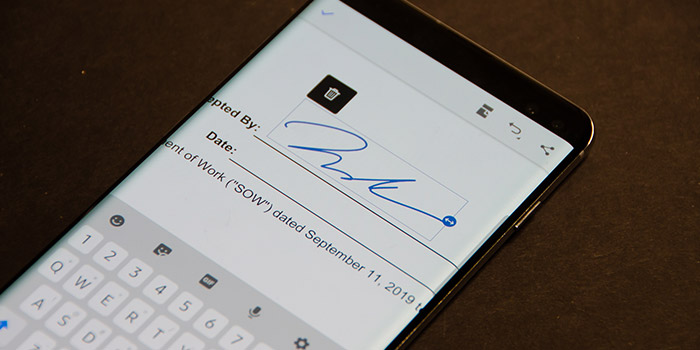 امضا زدن روی عکس ، سند و.. در گوشی اندروید و آیفون
