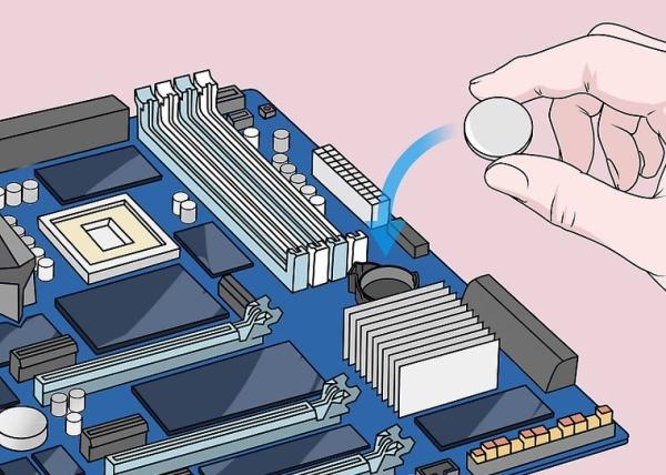 ریست تنظیمات BIOS با خارج کردن باتری CMOS